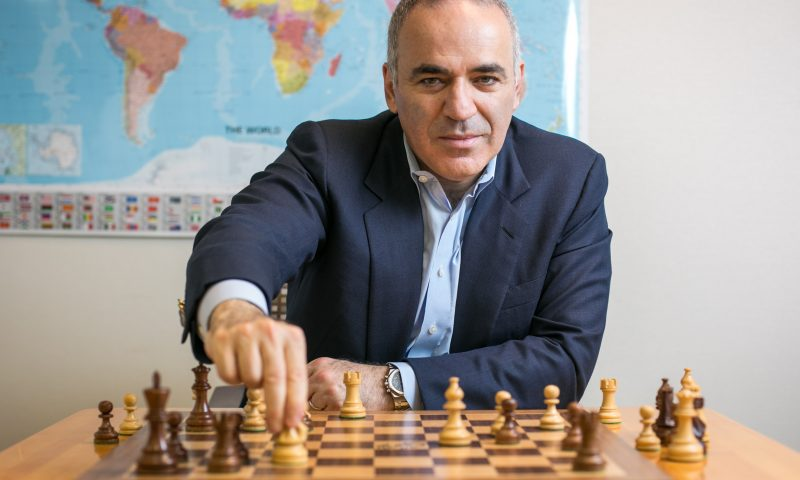 Former world chess champion Garry Kasparov at his office in Midtown, Manhattan, on June 13, 2016. (Benjamin Chasteen/Epoch Times)
